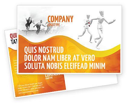 Business Concepts: リレー - はがきテンプレート #03608