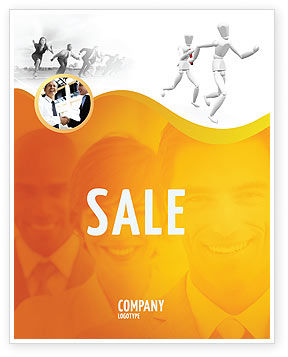 Business Concepts: Relay Sale Poster Template #03608