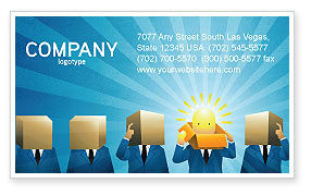 Business: Brainstorming Session Business Card Template #03611