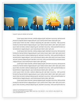 Business: Brainstorming Session Letterhead Template #03611