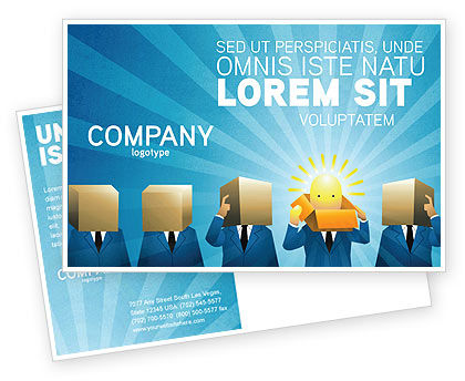 Brainstorming Session Postcard Template, 03611, Business — PoweredTemplate.com
