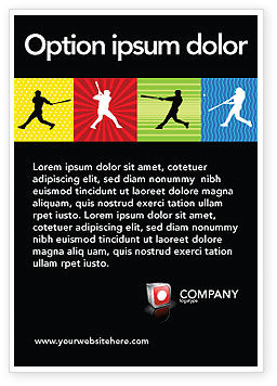 Sports: Baseball Bat Hit Ad Template #03612