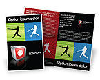 Sports: Baseball Bat Hit Brochure Template #03612