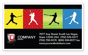 Baseball Bat Hit Business Card Template