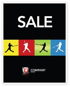 Sports: Baseball Bat Hit Sale Poster Template #03612