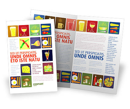 Fast Food Ingredients Brochure Template Design And Layout