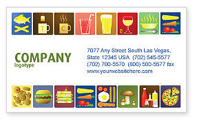 Food & Beverage: Fast Food Ingredients Business Card Template #03614