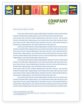Food & Beverage: Fast Food Ingredients Letterhead Template #03614