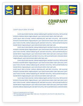 Fast Food Ingredients Letterhead Template, 03614, Food & Beverage — PoweredTemplate.com