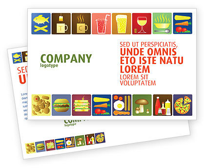 Food & Beverage: Fast Food Ingredients Postcard Template #03614