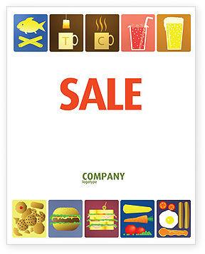 Fast Food Ingredients Sale Poster Template, 03614, Food & Beverage — PoweredTemplate.com