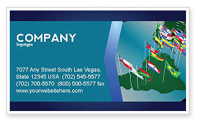 Flags/International: South and Central America Business Card Template #03615