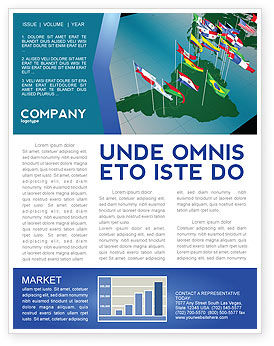 Flags/International: South and Central America Newsletter Template #03615