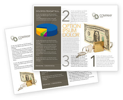 Financial/Accounting: Money Savings Brochure Template #03616