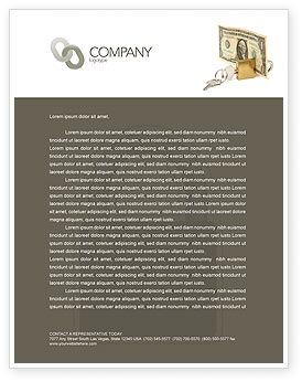 Money Savings Letterhead Template, 03616, Financial/Accounting — PoweredTemplate.com