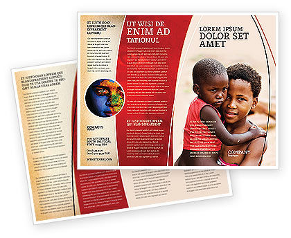 People: Refugees Brochure Template #03619
