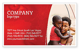 Refugees Business Card Template, 03619, People — PoweredTemplate.com