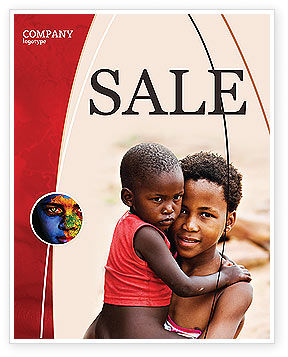 Refugees Sale Poster Template, 03619, People — PoweredTemplate.com