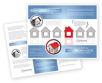 Typical House Of Suburban Icon Brochure Template, 03620, Construction — PoweredTemplate.com