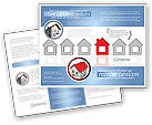 Construction: Typical House Of Suburban Icon Brochure Template #03620