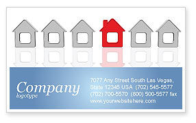 Construction: Typical House Of Suburban Icon Business Card Template #03620