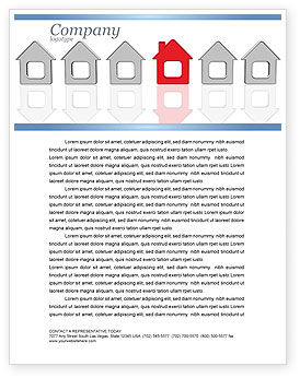 Typical House Of Suburban Icon Letterhead Template, 03620, Construction — PoweredTemplate.com
