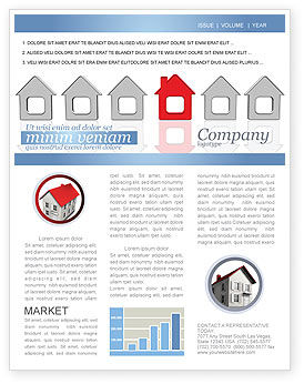Typical House Of Suburban Icon Newsletter Template, 03620, Construction — PoweredTemplate.com