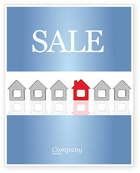 Typical House Of Suburban Icon Sale Poster Template, 03620, Construction — PoweredTemplate.com