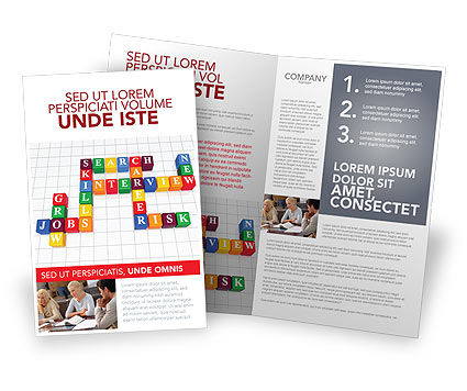 Job Benefits Brochure Template, 03621, Education & Training — PoweredTemplate.com