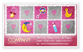 Baby's Room Theme Business Card Template, 03622, Education & Training — PoweredTemplate.com