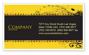 Abstract/Textures: Decorated Panel Business Card Template #03625