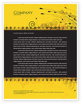 Abstract/Textures: Decorated Panel Letterhead Template #03625