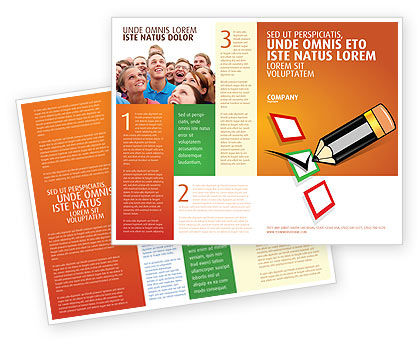 Questionnaire Brochure Template, 03627, General — PoweredTemplate.com