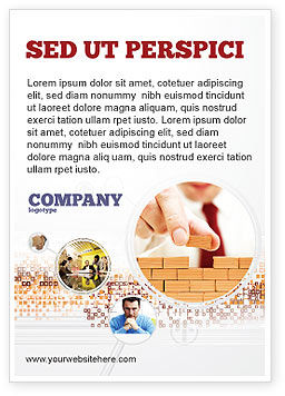 Construction: The Wall Ad Template #03630