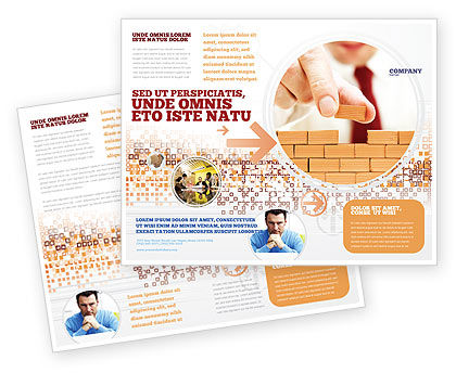 The Wall Brochure Template, 03630, Construction — PoweredTemplate.com