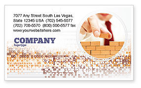 Construction: The Wall Business Card Template #03630