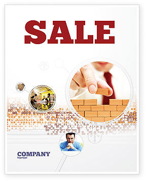 The Wall Sale Poster Template, 03630, Construction — PoweredTemplate.com