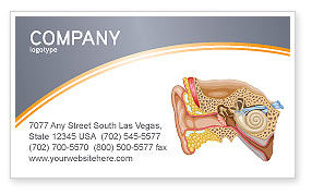 Auricle Business Card Template, 03631, Medical — PoweredTemplate.com