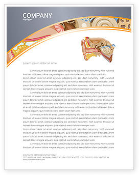 Medical: Auricle Letterhead Template #03631