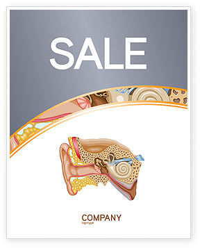 Auricle Sale Poster Template, 03631, Medical — PoweredTemplate.com
