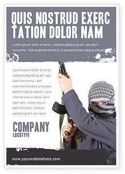 Military: Terrorist Advertentie Template #03632