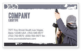 Terrorist Business Card Template, 03632, Military — PoweredTemplate.com