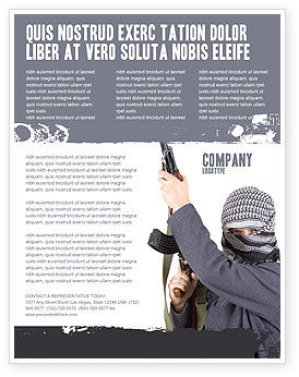Terrorist Flyer Template, 03632, Military — PoweredTemplate.com