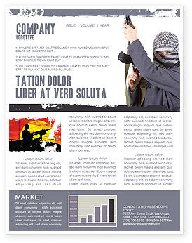 Terrorist Newsletter Template, 03632, Military — PoweredTemplate.com