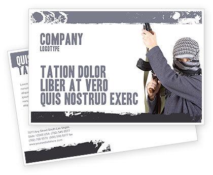 Military: Terrorist Postcard Template #03632