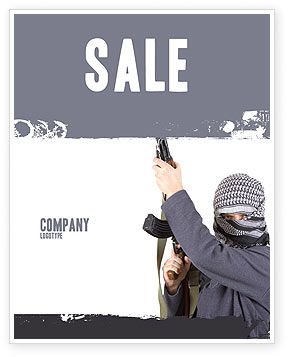 Terrorist Sale Poster Template, 03632, Military — PoweredTemplate.com