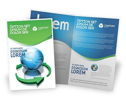 Restoring World Brochure Template, 03636, Global — PoweredTemplate.com