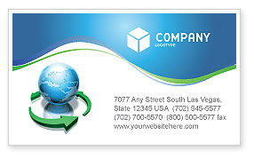 Global: Restoring World Business Card Template #03636