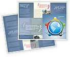 Global: Plantilla de folleto - cinco continentes #03637