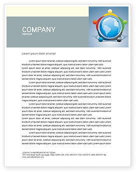Five Continents Letterhead Template